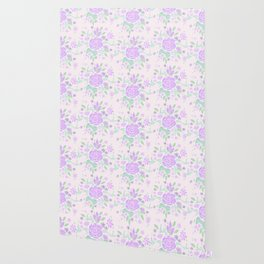 Sweet Rose Lavender Wallpaper