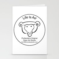 portlandia Stationery Cards featuring 100th Monkey Studio Portlandia's Original Open Studio by Beth Ann Short