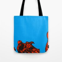motorcycle Tote Bags featuring Motorcycle by bike51design