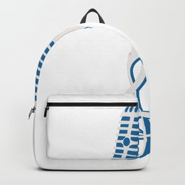 Music microphone notes singer band teacher gift Backpack