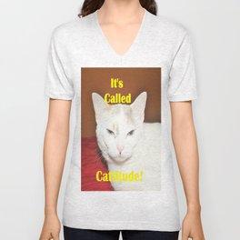 It's Called Cattitude Unisex V-Neck