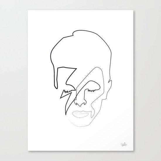 db as black Canvas Print