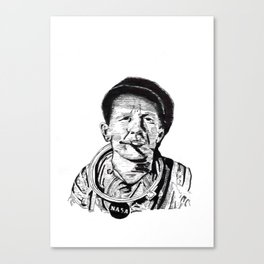 Woody Guthrie the Astronaut Canvas Print