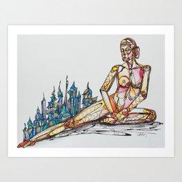 Strength of Woman Art Print