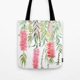 bottle brush tree flower Tote Bag