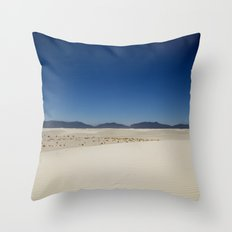 Mountains and Sand Throw Pillow