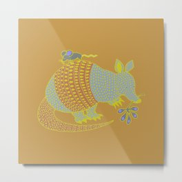 Southwest Armadillo Metal Print