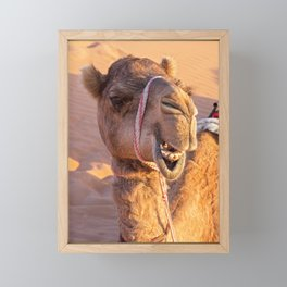 Camel with a funny face Framed Mini Art Print
