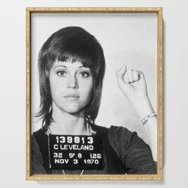 Jane Fonda Mug Shot Vertical Serving Tray