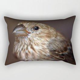 Portrait of a House Finch Rectangular Pillow