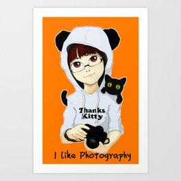 thanks kitty - i like photography Art Print