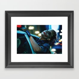 Joker Heath Ledger Framed Art Print