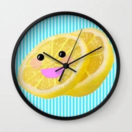 Lovable Kawaii Lemons Wall Clock