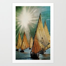 Chapter 5: A Sudden Flash of Brilliant Light and Deafening Silence Art Print