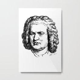 J.S. Bach Metal Print
