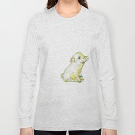 Pig Illustration Long Sleeve T-shirt