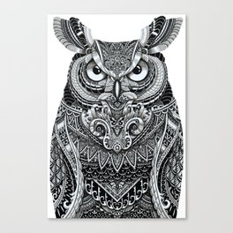 Fancy Great Horned Owl Canvas Print