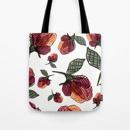 Prairie Rose Flower in Red and Orange Tote Bag