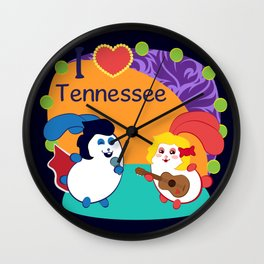 Ernest and Coraline | I love Tennessee Wall Clock