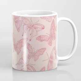 Butterfly Pattern soft pink pastel Coffee Mug