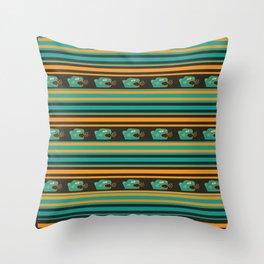Aztec Mexican Mythological Jaguar Pattern Throw Pillow