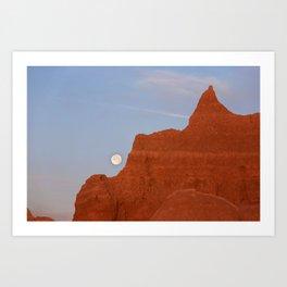 Full Moon Setting Art Print