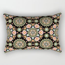 Flower Crown Fiesta Rectangular Pillow
