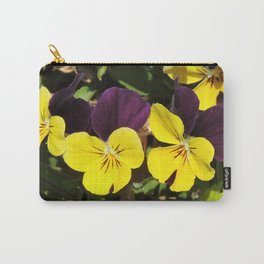 The Pansies at the Corner Carry-All Pouch