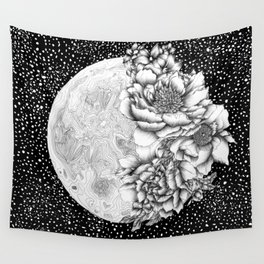 Moon Abloom Wall Tapestry