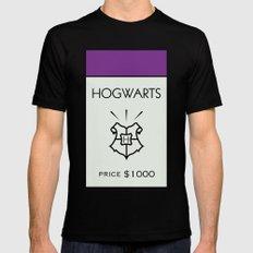 Hogwarts Monopoly Location Mens Fitted Tee MEDIUM Black