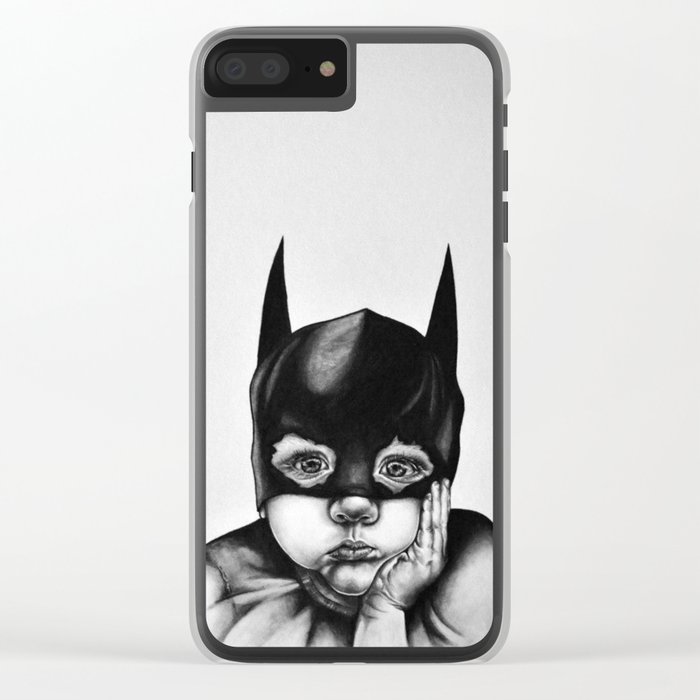 Waiting For a Hero (Bat Boy) Clear iPhone Case