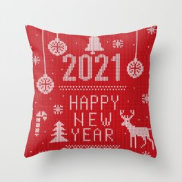 Happy New Year! 2021 Throw Pillow