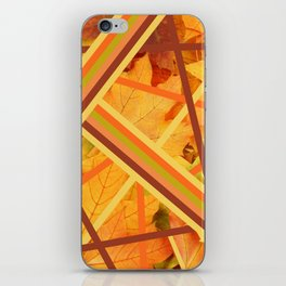 Autumn leaves abstract design iPhone Skin