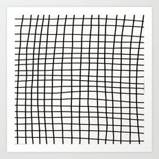 Handdrawn Grid Art Print
