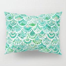 VENUS DE MER Green + Blush Mermaid Scales Pillow Sham