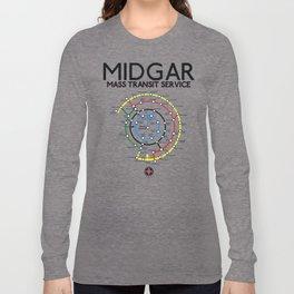 Final Fantasy VII - Midgar Mass Transit System Map Long Sleeve T-shirt
