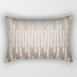 Eye of the Magpie tribal style pattern - champagne Rectangular Pillow