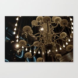 Lit Lamps Canvas Print