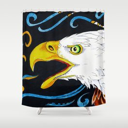 Eagle Marker Ink Drawing Shower Curtain