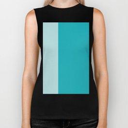 Turquoise stripes, modern, chic, minimalist, simple, elegant Biker Tank