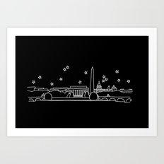 Washington DC City Skyline Art Print