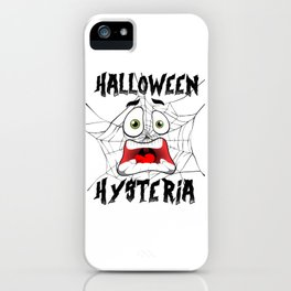 Halloween Hysteria Spider Web Screaming Face Light iPhone Case