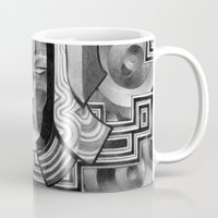 art deco Mugs featuring Deco by Mouseizm