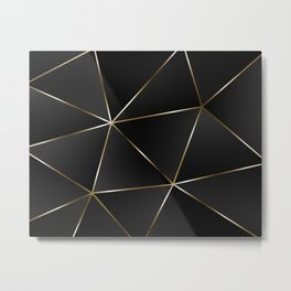 Triangles with golden threads Metal Print