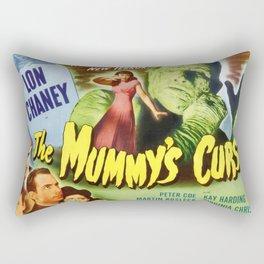 The Mummy's curse, vintage horror movie poster Rectangular Pillow