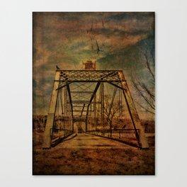 1897 Bridge over Neversink River Canvas Print