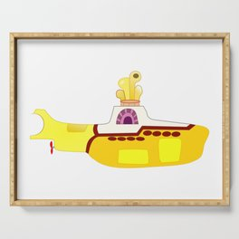 The Fab Four Yellow Submarine Cartoon Image Serving Tray