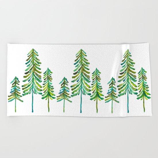 Pine Trees – Green Palette Beach Towel