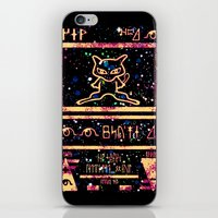 mew iPhone & iPod Skins featuring ancient mew by HiddenStash Art