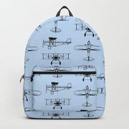 Biplanes // Light Blue Backpack